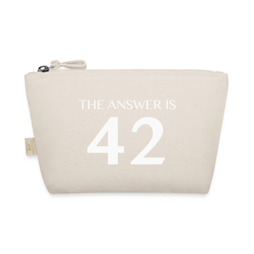 The Answer is 42 White - The Wee Pouch