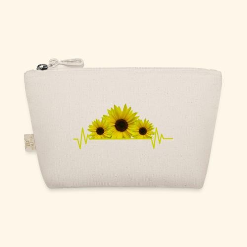 Sonnenblumen Herzschlag Sonnenblume Blumen Blüten - Täschchen