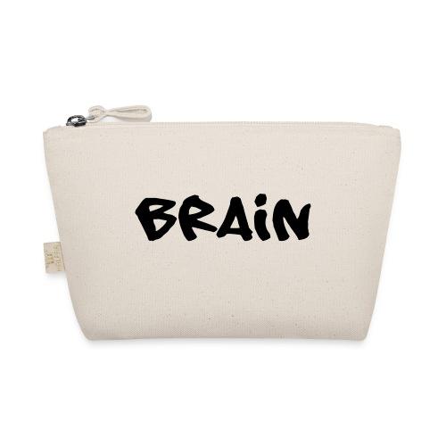 brain schriftzug - Täschchen