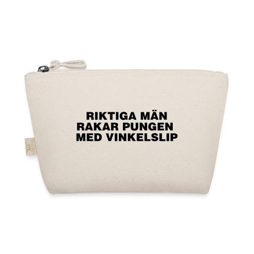Riktiga män rakar pungen med vinkelslip - Liten väska
