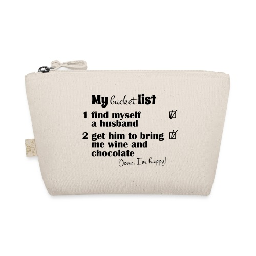 My bucket list, husband bring wine and chocholate - Pikkulaukku