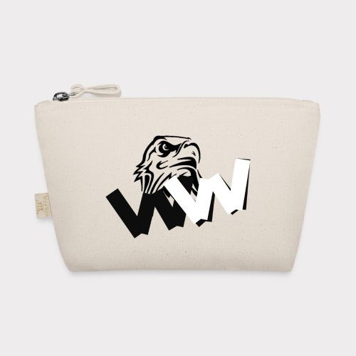 White and Black W with eagle - The Wee Pouch