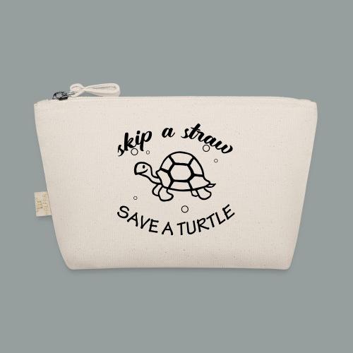 skip a straw save a turtle - Täschchen