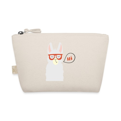 Llama with red glasses (black) - Små stofpunge