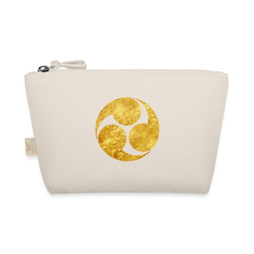 Kobayakawa Mon Japanese clan gold on black - The Wee Pouch