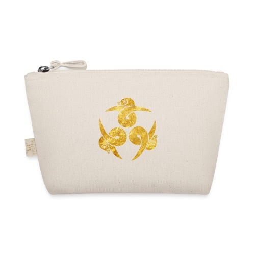 Three Geese Japanese Kamon in gold - The Wee Pouch