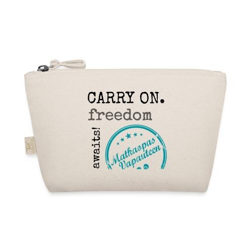 Kangaskassi Matkaopas Vapauteen, turkooosi - Pikkulaukku