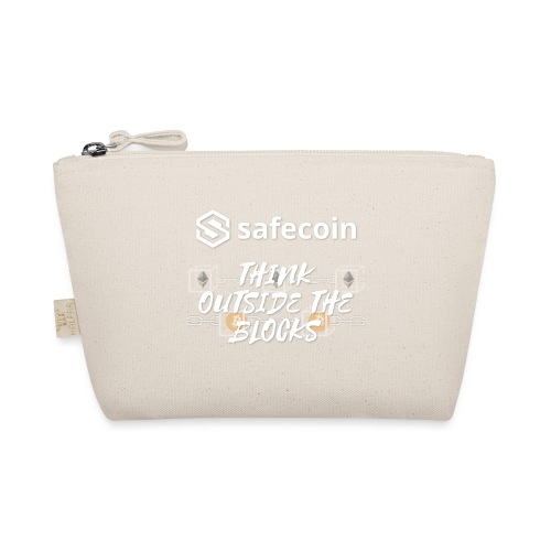 Safecoin Think Outside the Blocks (white) - The Wee Pouch