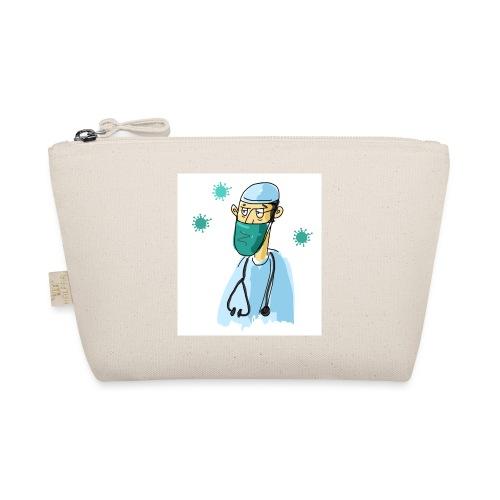 Cartoon Doktor Geschenkidee gezeichnet - Täschchen