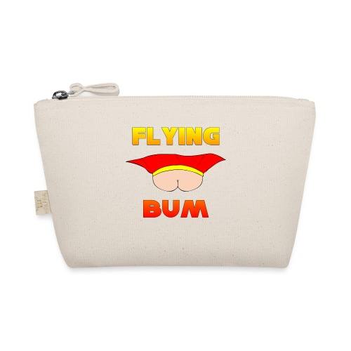 Flying Bum (face on) with text - The Wee Pouch