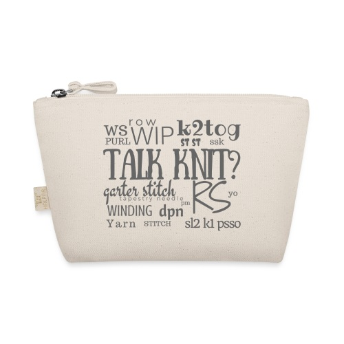 Talk Knit ?, gray - The Wee Pouch