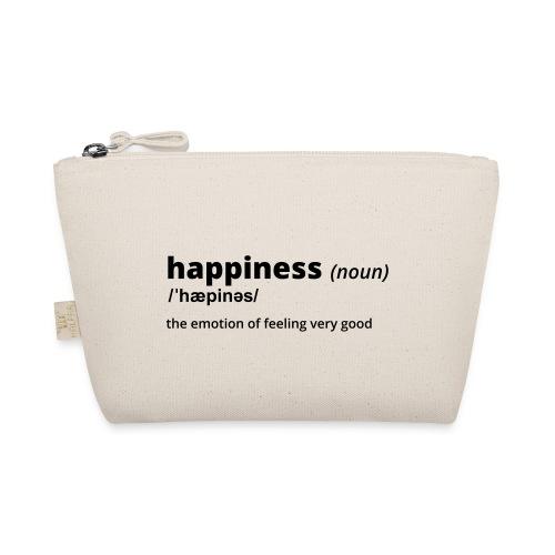 Happiness - Shirt (100% bio und fairtrade) - Täschchen