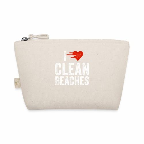 I Love Clean Beaches Shirt Save the Planet Shirt - Täschchen