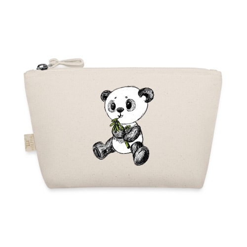 Panda bjørn farvet scribblesirii - Små stofpunge