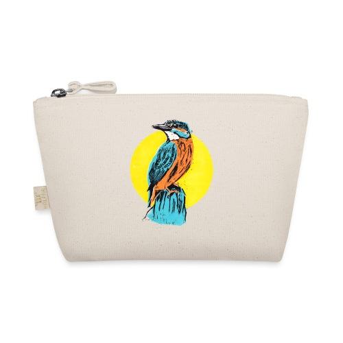 Linocut Kingfisher - Täschchen