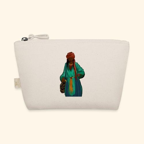 Femme avec sac motif - Trousse