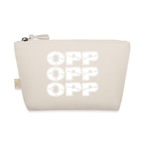 OPP Logo White - Pikkulaukku