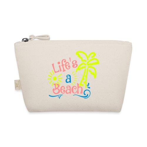 lifes a beach, Quote, Strand - Tasje