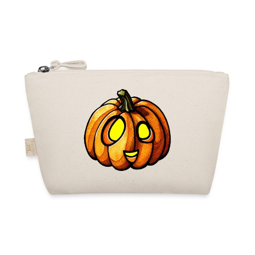 Pumpkin Halloween watercolor scribblesirii - The Wee Pouch
