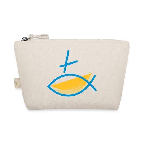 Altkatholischer Logo Fisch Blau/Gelb - Täschchen