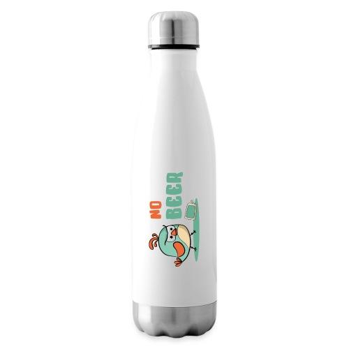 No Beer / Kein Bier / genervter Schluckspecht - Isolierflasche