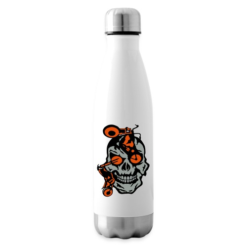 tete mort moto motrocycle oeil skull - Bouteille isotherme