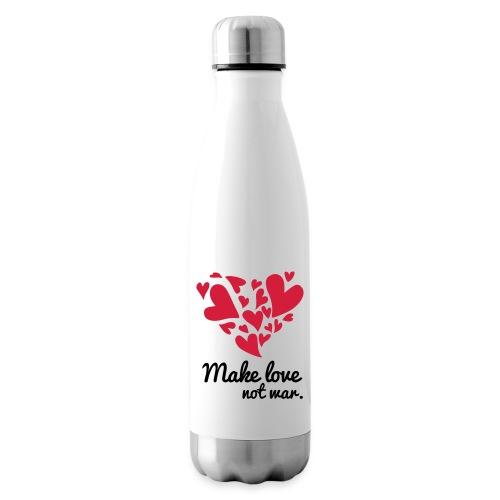 Make Love Not War T-Shirt - Insulated Water Bottle