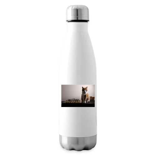 Charlie and his chess board - Insulated Water Bottle