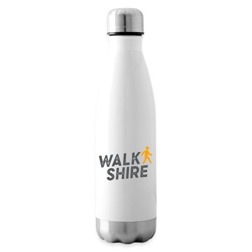 Walkshire logo orange person - Insulated Water Bottle
