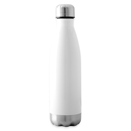 Planet Cycling Icon White - Insulated Water Bottle