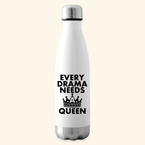 EVERY DRAMA black png - Insulated Water Bottle