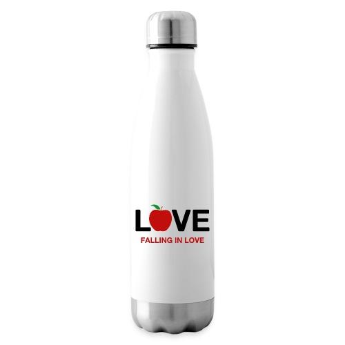 Falling in Love - Black - Insulated Water Bottle