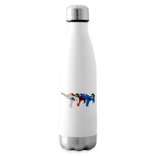 8 bit trip ninjas 2 - Insulated Water Bottle