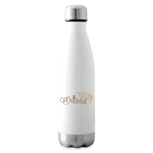 miklof logo gold outlined 3000px - Insulated Water Bottle