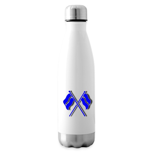 crossed flags - Insulated Water Bottle