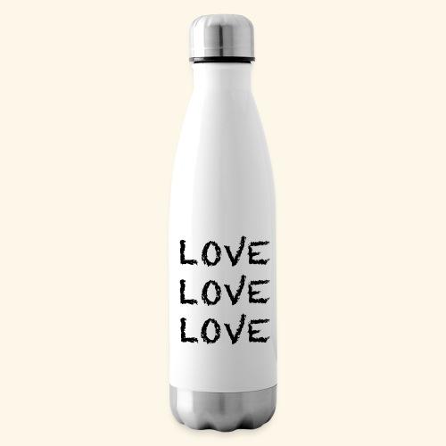 LOVE Black 001 - Isolierflasche
