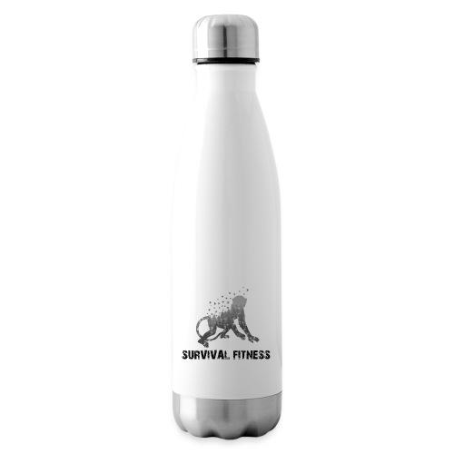 Survival Fitness Logo Schwarz - Isolierflasche