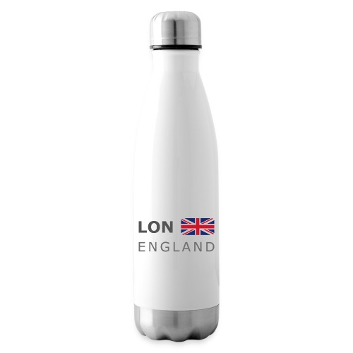 LON ENGLAND BF dark-lettered 400 dpi - Insulated Water Bottle