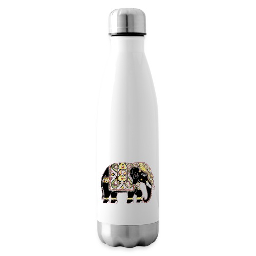 Indian elephant for luck - Insulated Water Bottle