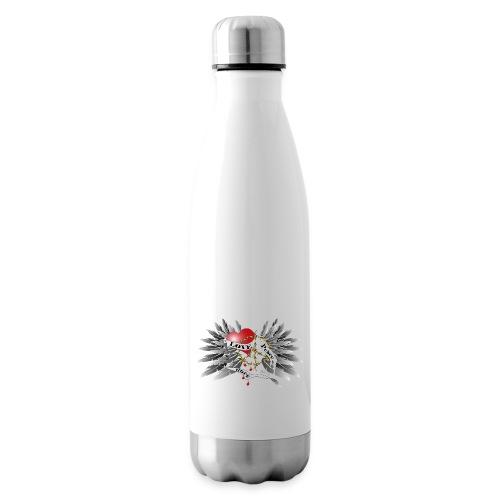 Love, Peace and Hope - Liebe, Frieden, Hoffnung - Isolierflasche