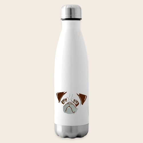 otiz mops kopf 2farbig - Isolierflasche