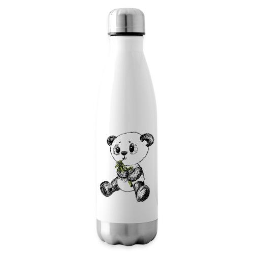 Panda Bär farbig scribblesirii - Isolierflasche