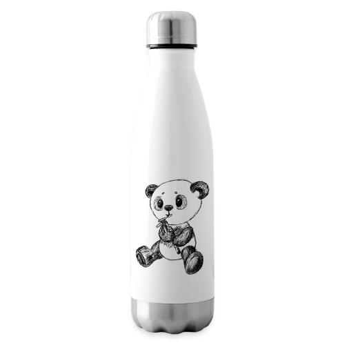 Panda Bär schwarz scribblesirii - Isolierflasche