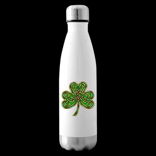 Celtic Knotwork Shamrock - Insulated Water Bottle