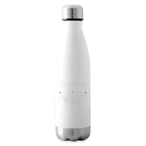Safecoin Think Outside the Blocks (white) - Insulated Water Bottle