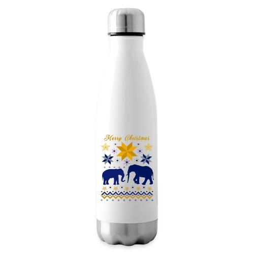 Merry Christmas I Elefanten - Isolierflasche