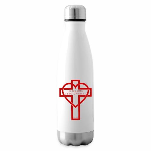 Im Namen JESU CHRISTI - rot - Isolierflasche