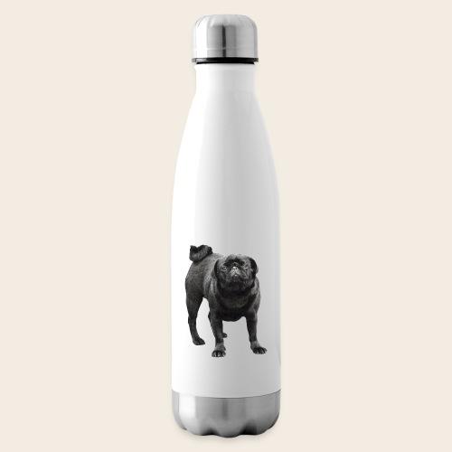 schwarzer Mops - Isolierflasche