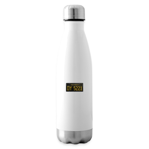 CALIFORNIA BLACK LICENCE PLATE - Insulated Water Bottle