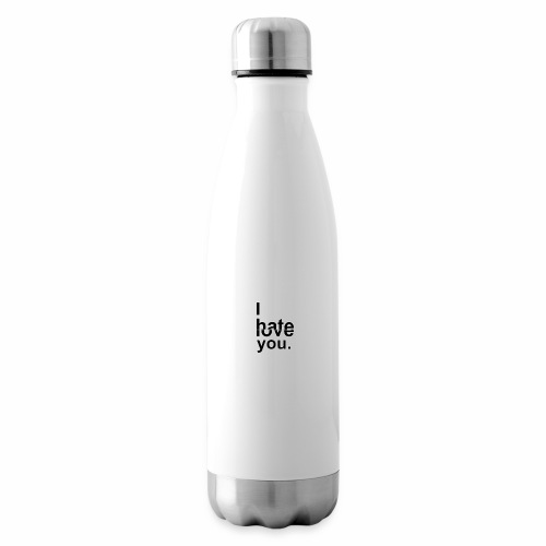 love hate - Insulated Water Bottle